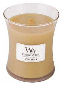 Aromatická svíčka váza, WoodWick At the Beach, hoření až 65 hod