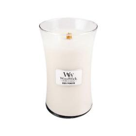 Aromatická svíčka váza, WoodWick Baby Powder, hoření až 120 hod