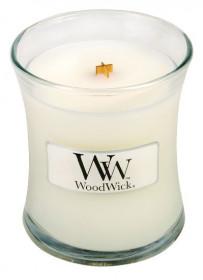 Aromatická svíčka váza, WoodWick Baby Powder, hoření až 30 hod