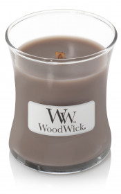 Aromatická svíčka váza, WoodWick Black Amber & Citrus, hoření až 30 hod