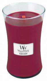 Aromatická svíčka váza, WoodWick Black Cherry, hoření až 120 hod