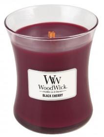 Aromatická svíčka váza, WoodWick Black Cherry, hoření až 65 hod