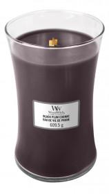 Aromatická svíčka váza, WoodWick Black Plum Cognac, hoření až 120 hod
