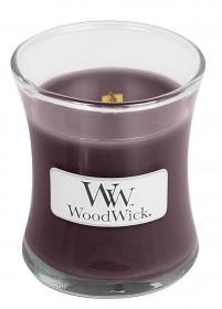 Aromatická svíčka váza, WoodWick Black Plum Cognac, hoření až 30 hod