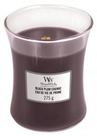 Aromatická svíčka váza, WoodWick Black Plum Cognac, hoření až 65 hod