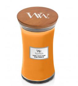 Aromatická svíčka váza, WoodWick Caramel Toasted Sesame, hoření až 120 hod
