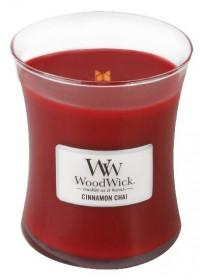 Aromatická svíčka váza, WoodWick Cinnamon Chai, hoření až 65 hod