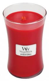 Aromatická svíčka váza, WoodWick Crimson Berries, hoření až 120 hod