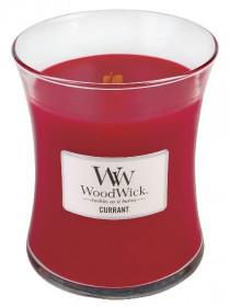Aromatická svíčka váza, WoodWick Currant, hoření až 65 hod