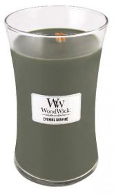 Aromatická svíčka váza, WoodWick Evening Bonfire, hoření až 120 hod