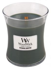 Aromatická svíčka váza, WoodWick Evening Bonfire, hoření až 65 hod