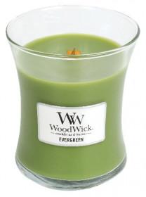Aromatická svíčka váza, WoodWick Evergreen, hoření až 65 hod