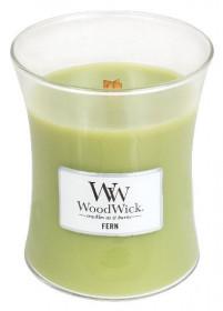 Aromatická svíčka váza, WoodWick Fern, hoření až 65 hod