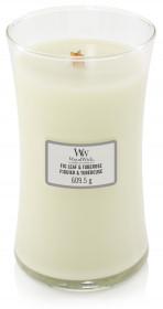 Aromatická svíčka váza, WoodWick Fig Leaf & Tuberose, hoření až 120 hod