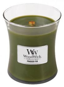 Aromatická svíčka váza, WoodWick Frasier Fir, hoření až 65 hod