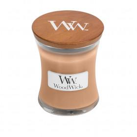 Aromatická svíčka váza, WoodWick Golden Milk, hoření až 30 hod