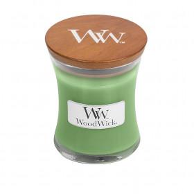 Aromatická svíčka váza, WoodWick Hemp & Ivy, hoření až 30 hod