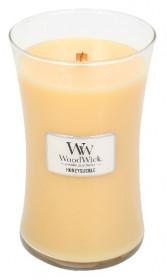 Aromatická svíčka váza, WoodWick Honeysuckle, hoření až 120 hod