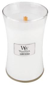 Aromatická svíčka váza, WoodWick Island Coconut, hoření až 120 hod
