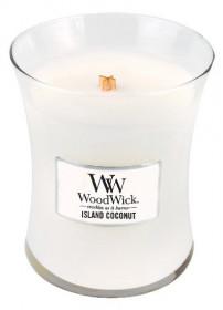 Aromatická svíčka váza, WoodWick Island Coconut, hoření až 65 hod