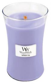 Aromatická svíčka váza, WoodWick Lavender Spa, hoření až 120 hod
