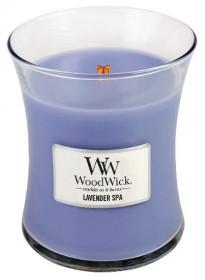 Aromatická svíčka váza, WoodWick Lavender Spa, hoření až 65 hod