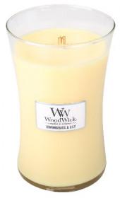 Aromatická svíčka váza, WoodWick Lemongrass & Lily, hoření až 120 hod