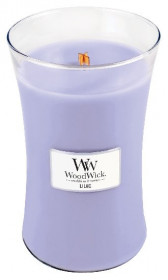 Aromatická svíčka váza, WoodWick Lilac, hoření až 120 hod