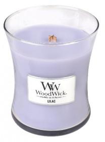 Aromatická svíčka váza, WoodWick Lilac, hoření až 65 hod