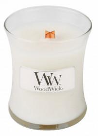 Aromatická svíčka váza, WoodWick Linen, hoření až 30 hod