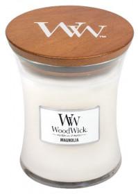 Aromatická svíčka váza, WoodWick Magnolia, hoření až 65 hod