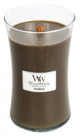 Aromatická svíčka váza, WoodWick Oudwood, hoření až 120 hod