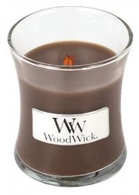 Aromatická svíčka váza, WoodWick Oudwood, hoření až 30 hod