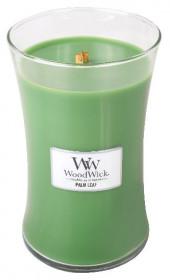 Aromatická svíčka váza, WoodWick Palm Leaf, hoření až 120 hod