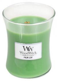 Aromatická svíčka váza, WoodWick Palm Leaf, hoření až 65 hod