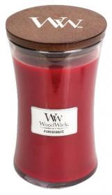 Aromatická svíčka váza, WoodWick Pomegranate, hoření až 120 hod
