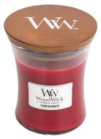 Aromatická svíčka váza, WoodWick Pomegranate, hoření až 65 hod