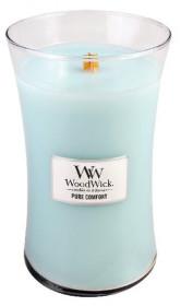 Aromatická svíčka váza, WoodWick Pure Comfort, hoření až 120 hod