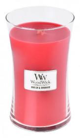 Aromatická svíčka váza, WoodWick Radish and Rhubarb, hoření až 120 hod