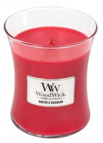 Aromatická svíčka váza, WoodWick Radish and Rhubarb, hoření až 65 hod