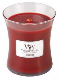 Aromatická svíčka váza, WoodWick Redwood, hoření až 65 hod