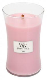 Aromatická svíčka váza, WoodWick Rose, hoření až 120 hod