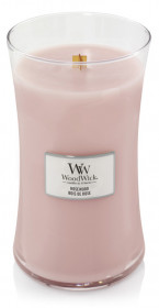Aromatická svíčka váza, WoodWick Rosewood, hoření až 120 hod