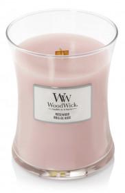 Aromatická svíčka váza, WoodWick Rosewood, hoření až 65 hod