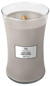 Aromatická svíčka váza, WoodWick Sacred Smoke, hoření až 120 hod