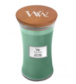 Aromatická svíčka váza, WoodWick Sage & Myrth, hoření až 120 hod