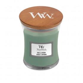 Aromatická svíčka váza, WoodWick Sage & Myrth, hoření až 30 hod