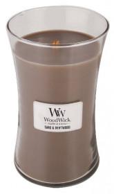 Aromatická svíčka váza, WoodWick Sand & Driftwood, hoření až 120 hod