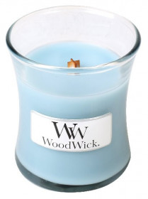 Aromatická svíčka váza, WoodWick Sea Salt & Cotton, hoření až 30 hod