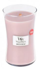 Aromatická svíčka váza, WoodWick Sea Salt Vanilla, hoření až 120 hod